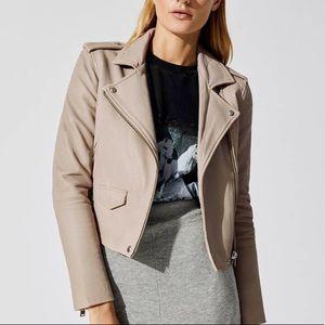 Iro Ashville Leather beige pink leather jacket 38